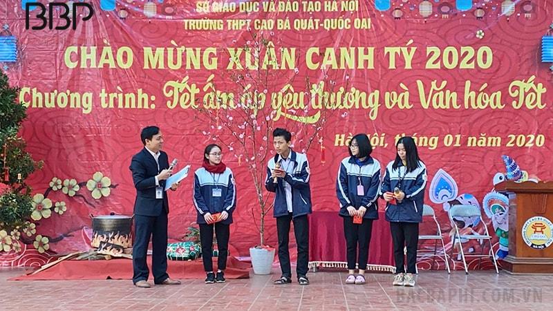 Hoạt động chào đón Tết cổ truyền 2020 của thầy và trò trường THPT Cao Bá Quát - Quốc Oai