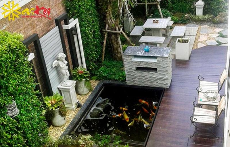Cách thiết kế hồ cá Koi cho sân thượng