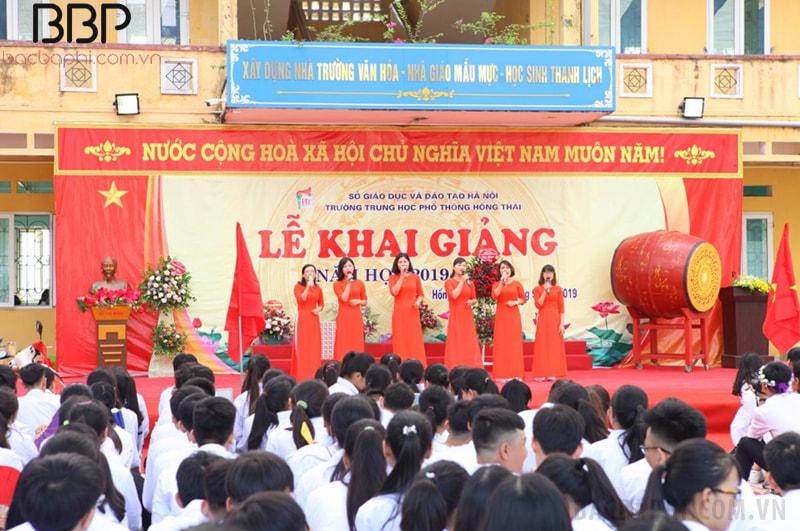 Lễ khai giảng năm học 2019-2020 của trường THPT Hồng Thái