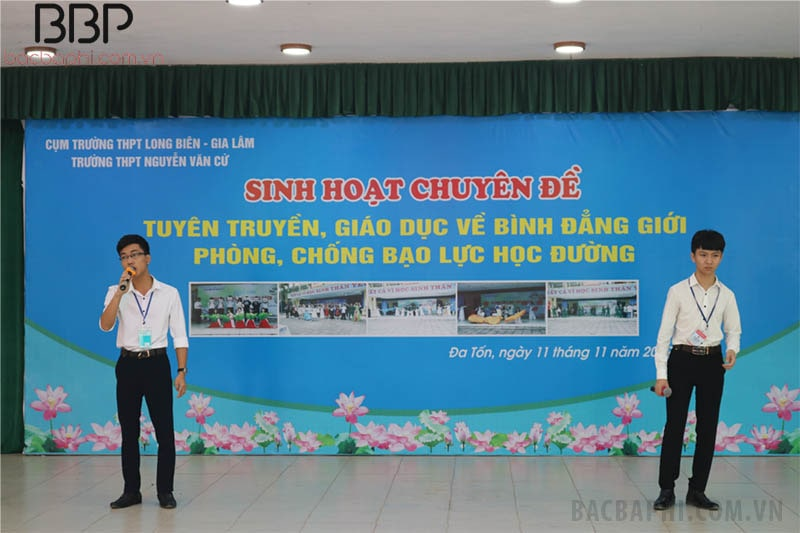 Trường THPT Nguyễn Văn Cừ tổ chức buổi tuyên truyền, giáo dục về bình đẳng giới và phòng, chống bạo lự học đường