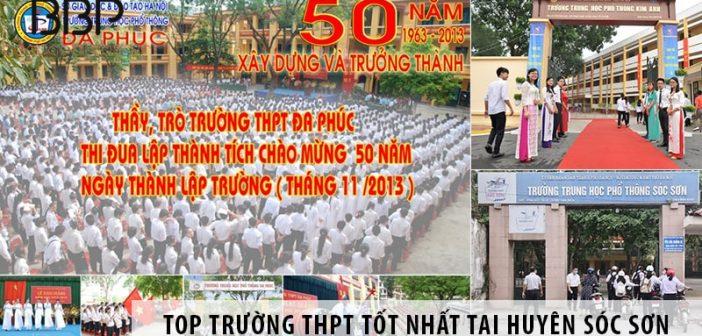 Gợi ý chọn trường cấp 3 cho học sinh tại huyện Sóc Sơn
