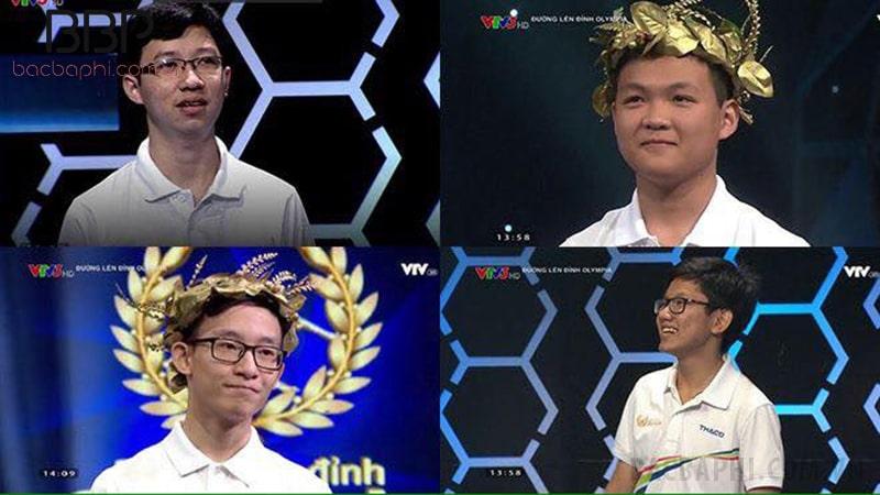 Hà Việt Hoàng (trên cùng bên phải) - cựu học sinh trường THPT Sóc Sơn