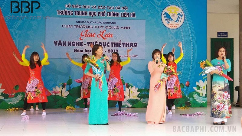 Trường THPT Liên Hà tổ chức giao lưu văn nghệ - thể dục thể thao cùng với các trường khác tại huyện Đông Anh, Hà Nội