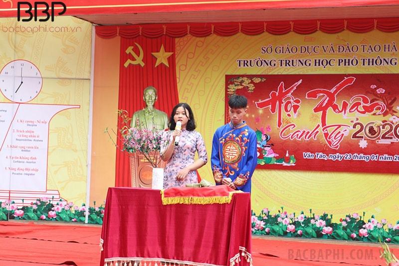 Hội chợ Xuân 2020 của trường THPT Vân Tảo