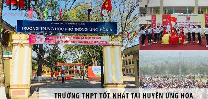 Gợi ý 3 trường THPT công lập tốt nhất tại huyện Ứng Hòa