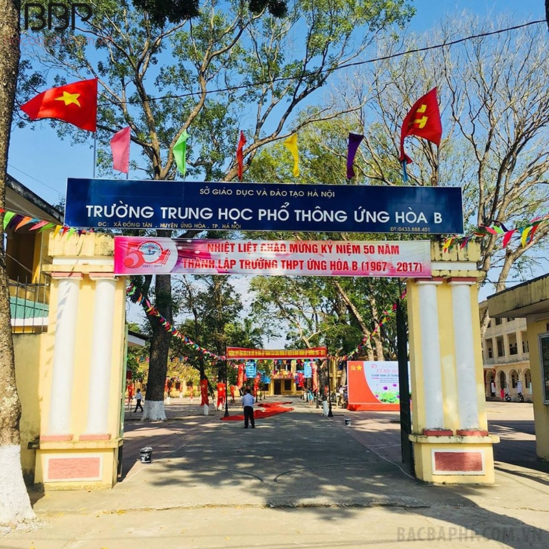 Trường THPT Ứng Hòa B - xã Đồng Tân