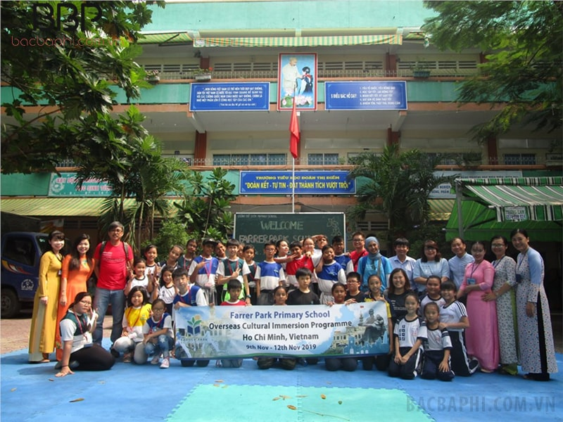 Giao lưu văn hóa giữa trường tiểu học Đoàn Thị Điểm với học sinh, giáo viên trường tiểu học Fareer Park - Singapore