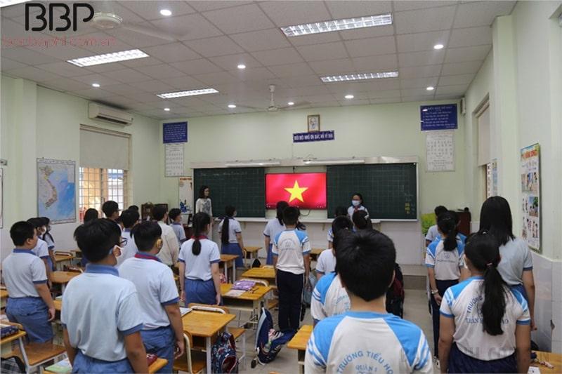 Lớp học tại trường Tiểu học Trần Hưng Đạo