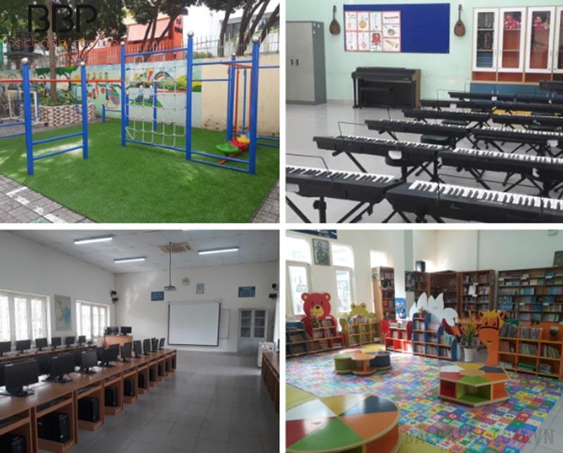 Hệ thống cơ sở vật chất hiện đại của trường tiểu học Đinh Tiên Hoàng