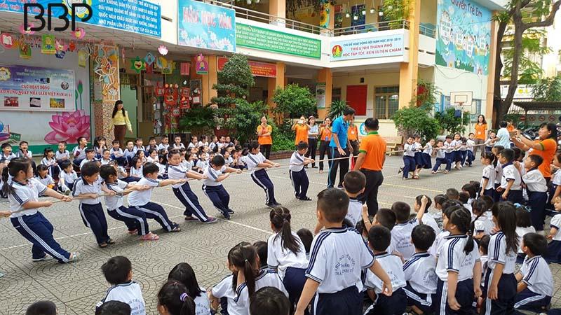 Hoạt động thể dục thể thao của nhà trường được đẩy mạnh