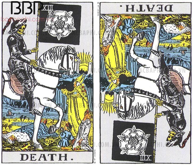 Lá bài XIII – Death (Tử thần) xuôi và ngược