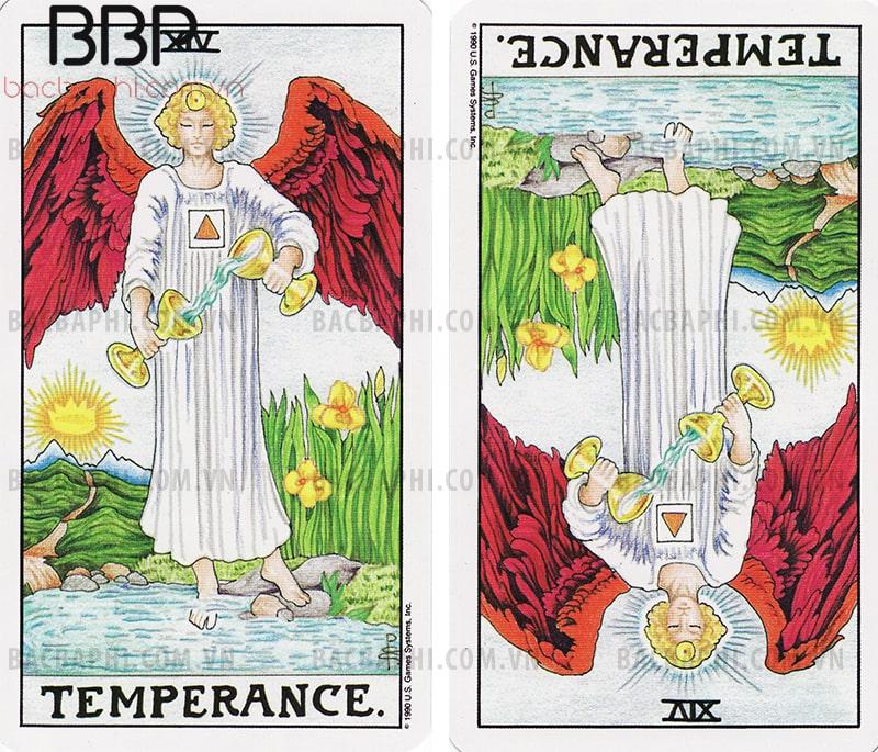 Lá bài XIV – Temperance (Sự tiết chế) xuôi và ngược