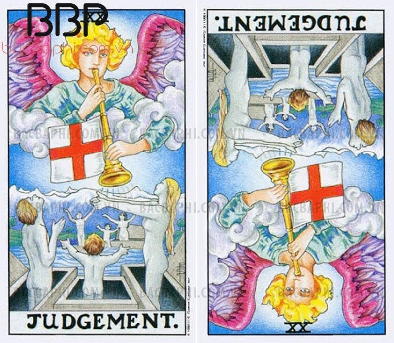 Lá bài XX – Judgement (Phán xét) xuôi và ngược