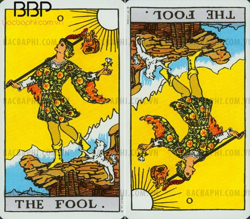 Lá bài 0 – The Fool (Chàng khờ) thuận và ngược