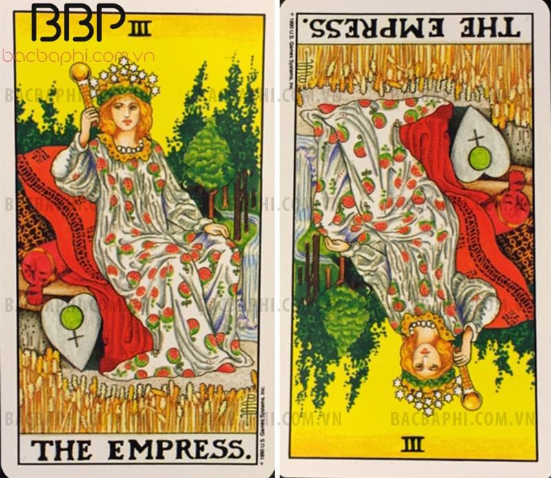 Lá bài III – The Empress (Nữ hoàng) xuôi và ngược