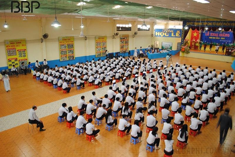 Toàn cảnh một buổi lễ khai giảng của trường