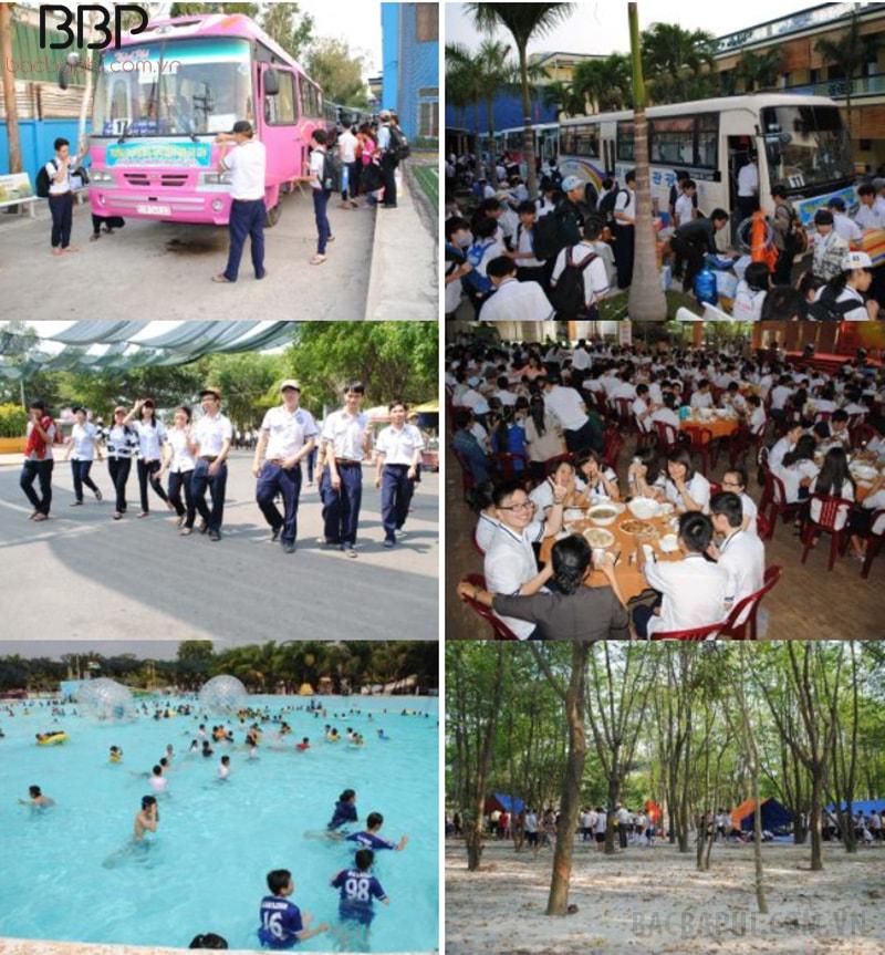 Trường tổ chức hoạt động ngoại khóa, dã ngoại cho học sinh